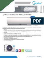 Monofolha Split Tipo Mural Blanc_DC Inverter R32