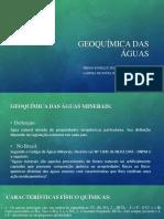 Geoquímica Das Águas - Seminário 2