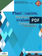 Planificación, Mediación y Evaluación Formartiva