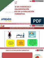 Análisis 1 de evidencias y Retroalimentación en el marco AeC