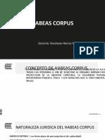 SEMANA 9 - HABEAS CORPUS