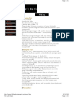 The Left Bank Menu