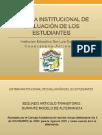 SISTEMA INSTITUCIONAL DE EVALUACIÓN DE LOS ESTUDIANTES (1)