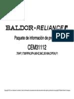 Hoja de datos motor de inducción CEM31112 0.75HP