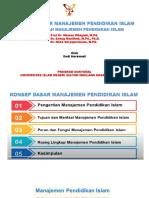 Konsep dasar Mana Pend Islam