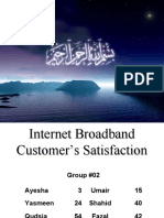 broadband customerr Ssatisfaction BRM