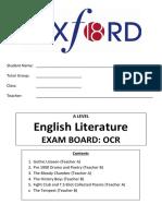 English Literature Handbook OCR UPDATED