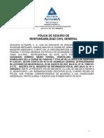 POLIZA DE RESPONSABILIDAD CIVIL GENERAL