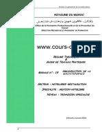 Www.cours-Ofppt.com Ofppt Resume Theorique & Guide de Travaux Pratiques Module n _ 15 Maintenance