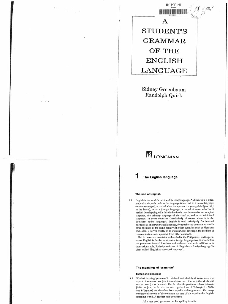 A students grammar of the english language sydney greenbaum a students grammar of the english language sydney greenbaum randolph quirk biocorpaavc