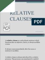 Presentation Relative clauses