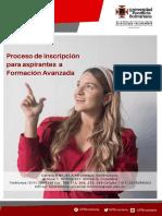 Instructivo inscripción para aspirantes FA