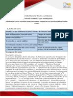 Syllabus del curso Organizaciones, gerencia e innovación en Gestión Pública