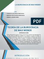 DIAPOSITIVAS_TEORÍA_BUROCRACIA_ MAX WEBER
