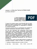 Alcance e limites das Teorias da Modernização. Lia Pinheiro Machado