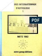 Congrès Internationaux d'Astrologie 1 - Metz 1982