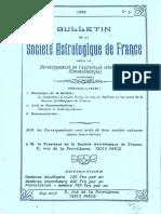 Bulletin de la SAF - N°3 3ème année 1989