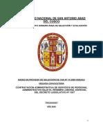 Bases de Concurso 14-2020 Psicologos Segunda Convocatoria