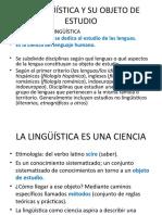 Ppt.la Lingüística y Su Objeto de Estudio