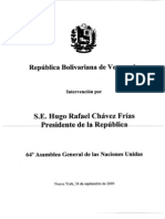 Discurso Hugo Chávez ONU 2009