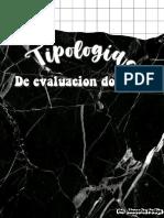 Tipologias de Evaluacion