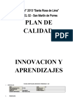 PLAN INNOVACION- CALIDAD 2021
