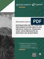 Deforestación 2001-2018 México