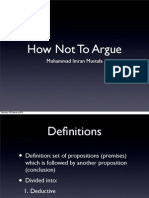 How not to argue