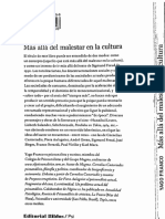 Yago Franco Mas Alla Del Malestar en La Cultura