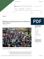 La Jornada - Protestan en Alemania por nuevas restricciones ante Covid-19