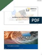 EGC - Formulation du béton 2019-2020