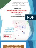 2 PRINCIPIOS CLAVES DE LA ORGANIZACIÓN