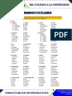 TÉRMINOS EXCLUIDOS II