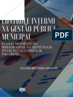CONTROLE INTERNO NA GESTÃO PÚBLICA MUNICIPAL