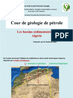 les bassins sédimentaires en Algérie