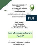 Chapitre 2-Source Et Génération Des Hydrocarbures