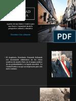 Ciudad Poética PLan Cultural Para El Perú