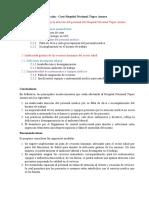 Informe de Recomendación - Caso Hospital Tupac Amaru