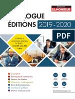 Editions Moniteur Catalogue 2019-2020 BD