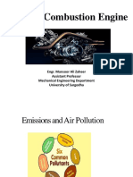 Emissions and Air Pollution- Catalytic convertor