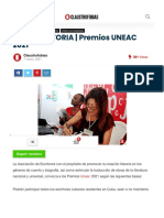 CONVOCATORIA   Premios UNEAC 2021