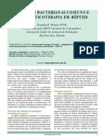 Doenças Bacterianas Comuns e Antibioticoterapia Em Répteis