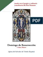 Domingo de Resurrección. Propio y Ordinario de la santa misa