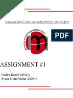 MOD Assignment 1