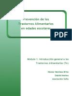 Modulo 1. Introducción general a los trastornos alimentarios TA
