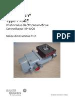 Masoneilan 7700E E_P Positioner ATEX Manual (French)