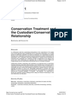 Appelbaum B. Custodian Conservator Relationship. 2008