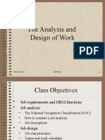 The analysis & Design of work