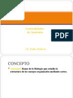 1.) Generalidades de Anatomía y Principios Morfológicos, Generalidades de Osteología - Prof. Pedro Bolívar