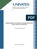 Dimensionamento de Transmissão para Veículo BAJA